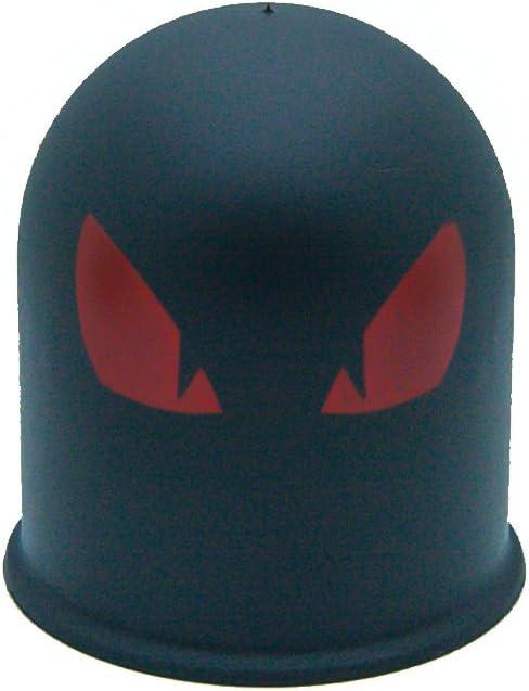 Schutzkappe Anhängerkupplung Dämon Teufel Evil Eye Cap 1 Böser Blick 1 Rot Auto