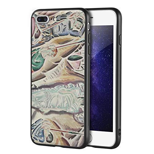 Berkin Arts Konstantinos Parthenis Custodia per iPhone 7 Plus&iPhone 8 Plus/Custodia per Cellulare Art/Stampa giclée UV sulla Cover del Telefono(Los Anastases)