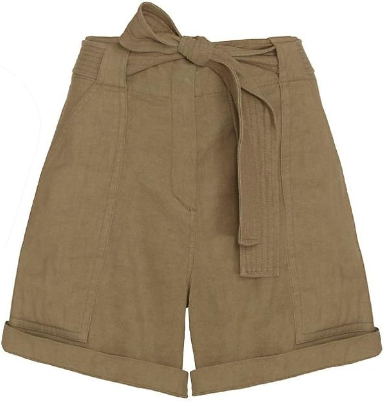 A.L.C. Gregory Green Linen Shorts 8