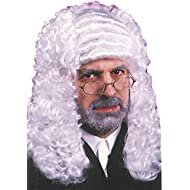 FunWorld Men's Judge Barrister Colonial Curly Wig Halloween Costume Accessory