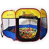 Bällebad24 Ø 120cm POP UP Ballpool Bällebad Kinder Pool Bällchenbad Spielzelt Bällehaus Spielhaus !Achtung Wild!