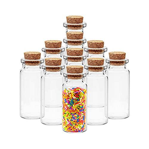 Mini botella de cristal con tapa de corcho