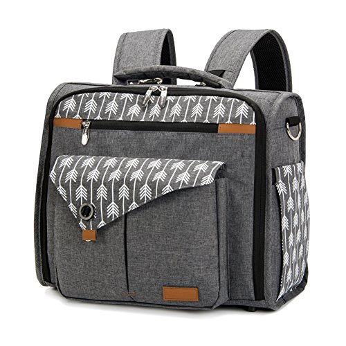 Lekebaby Convertible Diaper Bag Backpack for Mom Can Be Used...