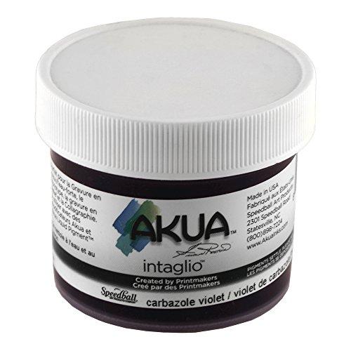 Akua Intaglio Print Making Ink, 2 oz Jar, Carbazole Violet (IICV2)