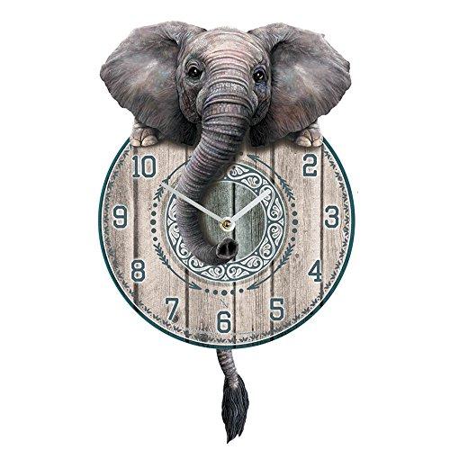 Nemesis Now Trunkin 'Tickin' Clock 25 cm, Grigio, MDF, Taglia Unica
