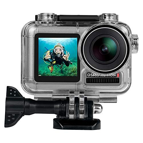 Linghuang 40 M Unterwasser Gehäuse für DJI Osmo Action Zubehör Housing Case Tauchen Schutzgehäuse Schale für DJI Osmo Action Kamera mit Halterung Zubehör