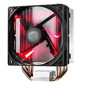 Cooler Master RR-212L-16PR-R1 Hyper 212 LED CPU Cooler with PWM Fan Four Direct Contact Heat Pipes Unique Blade Design and Red LEDs