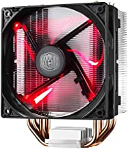 Cooler Master Hyper 212 LED CPU Air Cooler, 4 CDC Heat Pipes, 120mm PWM Fan, Quiet Spin Technology , Red LEDs for AMD Ryzen/Intel LGA1151