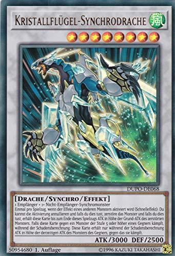 Konami - Yugioh DUPO-DE068 - Dragón síncrono con alas de cristal