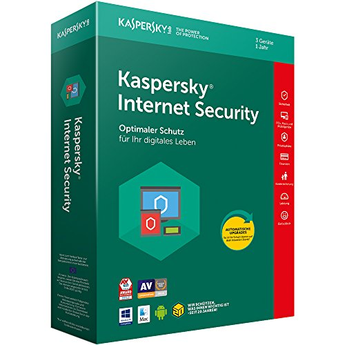 Kaspersky Internet Security 3 Geräte (Code in a Box). Für Windows Vista/7/8/8.1/10/MAC/Android/iOs