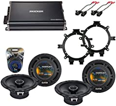 Compatible with Chevy Avalanche 2002-2006 OEM Speaker Replacement Harmony R5 R65 & CXA300.4 Amp (Renewed)