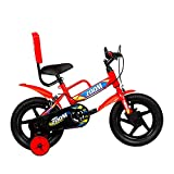 Hero Zoom 14T Single Speed Kids Cycles (Color: Red), Steel, wheel size: 14 inch, frame size: 9 inch,...