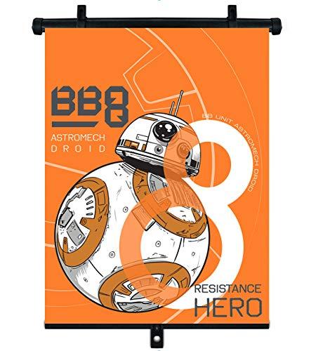 SEVEN POLSKA 9320 Disney Abat-jour rétractable pour voiture BB8 Star Wars Multicolore 250 g
