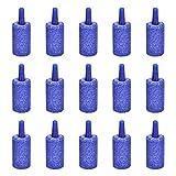 Nifocc Cilindro de piedra de aire difusor de burbujas de aire piedra para acuario bomba de tanque de peces - 15 piezas azul