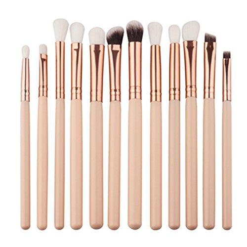 YB 8 pcs Lot de brosse de maquillage Doré Fond de teint Brosse Cosmétique pour femme synthétique Kabuki Lot de brosse de maquillage