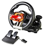 Serafim R1+ Racing Wheel - Gaming Steering Wheel with Responsive Pedal - Compatible