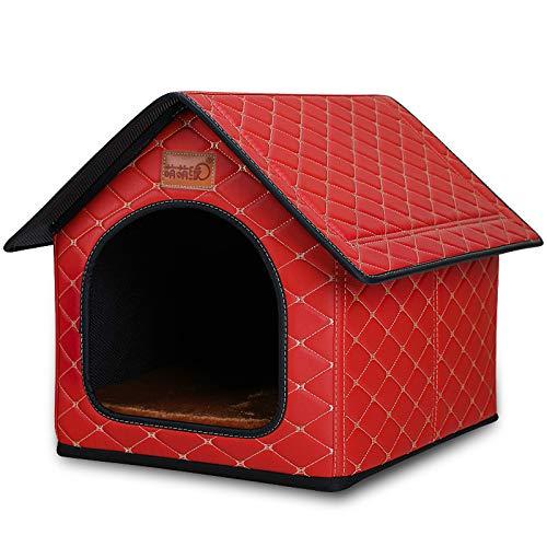 Perrera Grande, Perrera Impermeable Cerrada Tipo Casa Rey, Soporte De Perrera Desmontable para Mascotas De 100 Kg