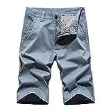 U/A Pantalones Cortos De Verano De Los Hombres De Herramientas Rectas Casual Capris Suelto Grande Capris Azul azul 54