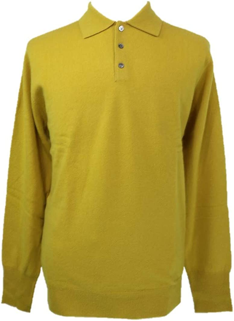 Shephe 4 Ply Men's Polo Cashmere Sweater with 3-Button