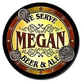 ZuWEE Megan Beer & Ale Personalized Neoprene Rubber Drink Coasters
