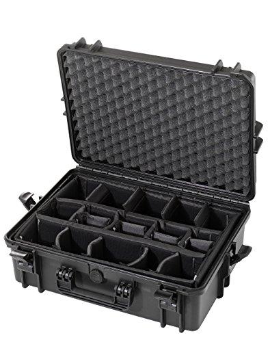 Max MAX505CAM IP67 resistente al agua nominal de tapas rígidas para fotografía equipo estanca resistente de transporte plástico/compartimentos acolchados/caja de transporte para iMac/caja de herramientas