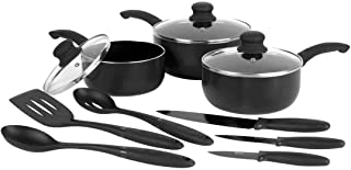 Russell Hobbs 9-Piece Cookware Set Black