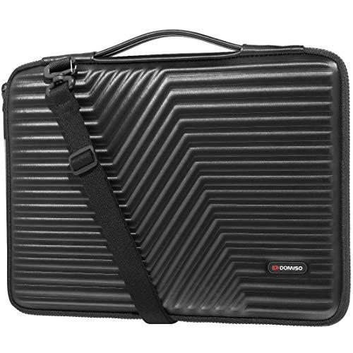 DOMISO 14 inch Laptop Sleeve Shoulder Bag Shockproof Case Waterproof Protective EVA Handbag for 14' Lenovo ThinkPad E480/Yoga 920/13.5' Microsoft Surface Book/HP Pavilion 14 Stream 14/14' Notebook