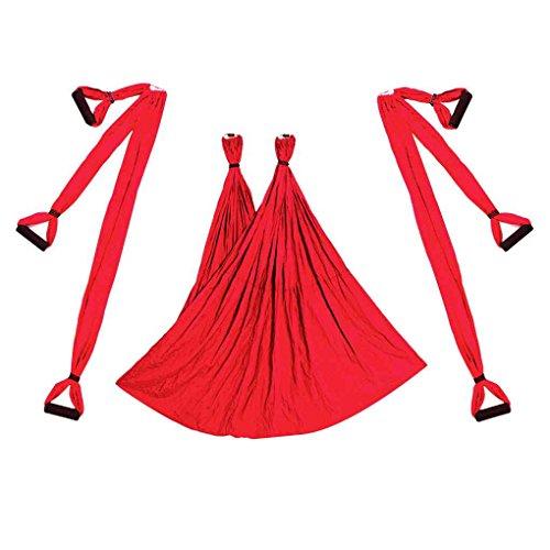 Republe Aerial Yoga Swing Volante Hammock Set Anti-Gravity 6 Presa della Mano Sedia d'attaccatura del Kit Fitness Pilates Altalena Belt