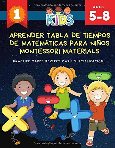 Aprender tabla de tiempos de matemáticas para niños montessori materials Practice Makes Perfect Math Multiplication: 1000 libros de ejercicios de ... Divertidos juegos de matemáticas para niños