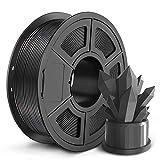 SUNLU PLA 3D Printer Filament 1.75mm for 3D Printer & 3D Pen, 1KG (2.2lbs) PLA Filament Tolerance Accuracy +/- 0.02 mm, GreyBlack