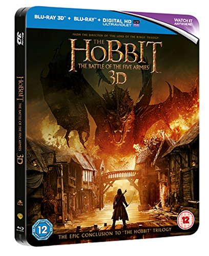 The Hobbit: The Battle of the Five Armies - Limited Edition Steelbook 3D & 2D Blu-ray (Includes Ultraviolet Copy)
