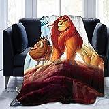 Gypsophila The Lion King Simba Decke, übergroß, warm, für Erwachsene, super weiche Decke mit weichem Anti-Pilling Flanell für Erwachsene und Kinder, 3D-Druck, mehrfarbig, 203,2 x 152,4 cm