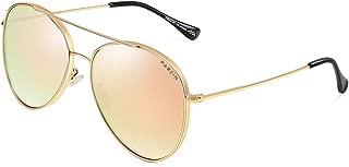 Polarized Vintage Aviator Sunglasses Women Men PARZIN Oversized Trendy Mirror UV400