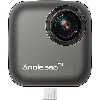 360度カメラ 全天球 Androidスマートフォン向けHDビューとビデオVR 3Dパノラマライフをソーシャルメディアに共有する (Type-CまたはMicro USB)