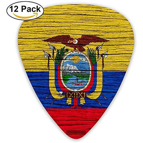 Houten Textuur Ecuador Vlag Gitaar Pick 12pack