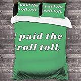 3-teiliges Bettwäsche-Set, 213 x 178 cm, Troll Toll Its Always Sunny Portable Bed King Size Komplett-Set mit 2 hellen Kissenbezügen bedruckt für Jugendzimmer