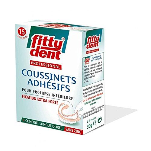 avis fixateur appareil dentaire professionnel Boîte Fittydent avec 15 tampons collants