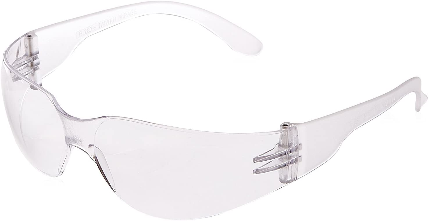 Radians Clear Safety Glasses, Scratch-Resistant, Wraparound