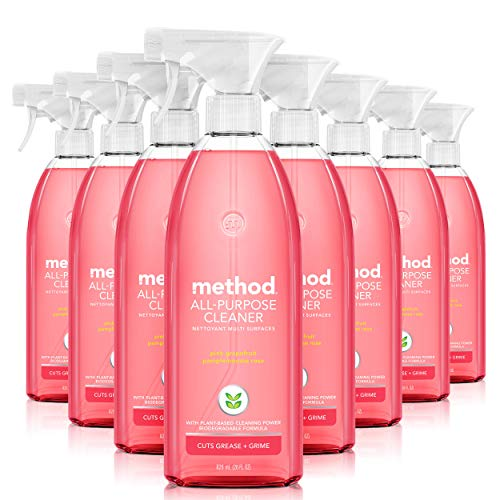 Method All-Purpose Cleaner, Pink Grapefruit, 28 Ounce, 8 pack, Packaging May Vary