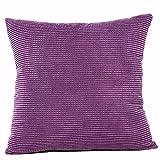 Aiserkly - Comoda Federa Quadrata per Cuscino da Divano, in Tinta Unita, Decorazione per la casa e la Camera da Letto, 45 x 45 cm, Purple, 45cm*45cm/18 * 18'
