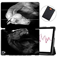 MAITTAO Compatible with Huawei MediaPad M6 10.8 2019 Case, Slim Leather Folio Smart-Shell Stand Cover with Auto Wake/Sleep for Huawei Mediapad M6 10.8 Inch 2019 Released Tablet, Akhal-Teke Horse 4