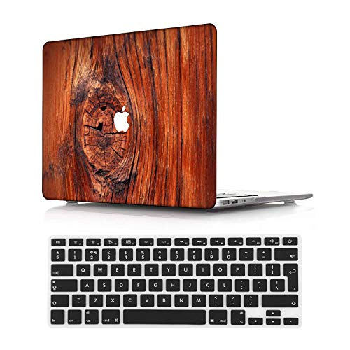 NEWCENT New MacBook Pro 13' Case,Plastic Ultra Slim Light Hard Case UK Keyboard Cover for Mac Pro 13 with/Without Touch Bar 2019 2018 2017 2016 Release(Model:A2159/A1989/A1706/A1708),Wood grain A 163