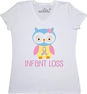 inktastic Infant Loss Awareness Owl Women's V-Neck T-Shirt