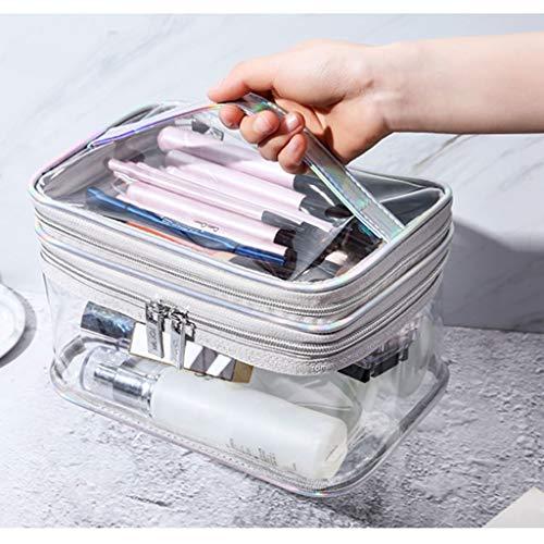 Bolsas de aseo Maquillaje portátil bolsa impermeable transparente bolsa de viaje bolsa de almacenamiento de Tocador transparente a prueba de fugas cosmético del bolso con cierre de cremallera y asa su