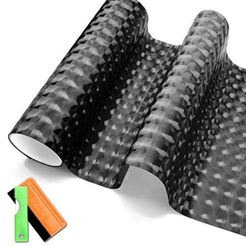 JDMBESTBOY Free Tool Kit Dark Black Cateyes Tint Headlight Taillight Side Marker Smoke Vinyl Film Sheet Self Adhesive 12'x12' (1FT x 1FT)