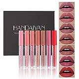 GL-Turelifes 7 piezas de lápiz labial líquido, lápiz labial mate, aterciopelado, impermeable, de larga duración, brillo de labios, suavizante, taza antiadherente, colores atractivos