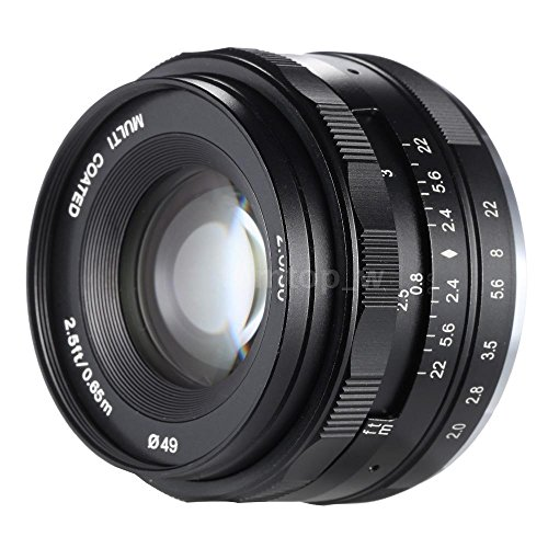 Meike Optics Objetivo para Nikon 1 (50 mm, F/ 2.0)