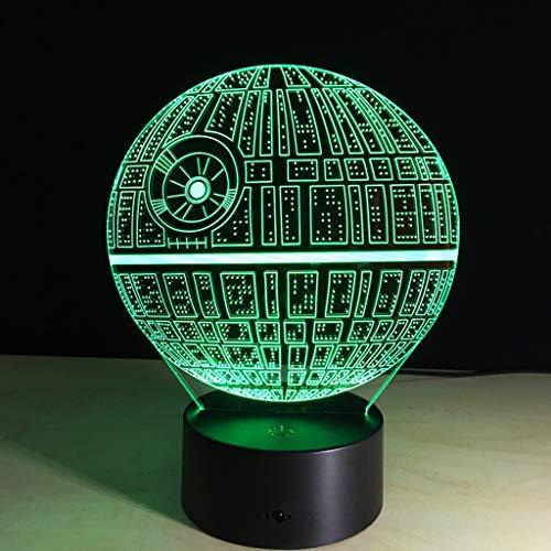 LHOME 3D-Täuschungs-Nachtlicht - 3D LED Star Wars LED-Tabellenschreibtischlampe for Schlafzimmer - 7 Farbwechsel-Dekor-Lampe for Kinder und Star Wars Fans (Farbe : Remote Control)