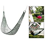 Itian Outdoor Hammock Rete in Nylon per Giardino, Beach Yard, Travel(Verde