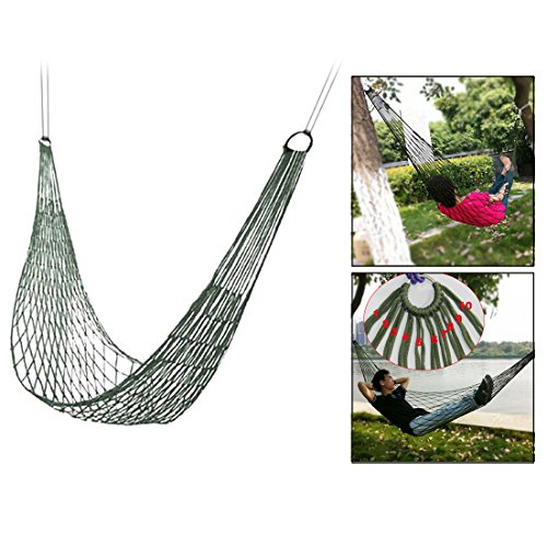 Itian Outdoor Hammock Rete in Nylon per Giardino, Beach Yard, Travel(Verde?
